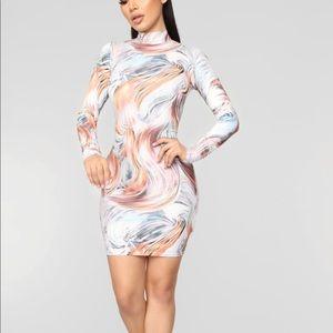 """""""Stormy weather"""" mini dress from fashion nova"""